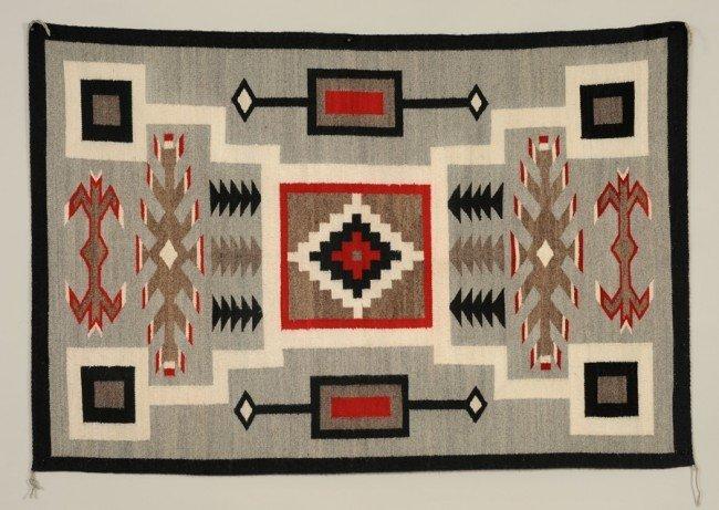 49: Navajo Granado Rug with Storm Pattern ca. 1940's  4