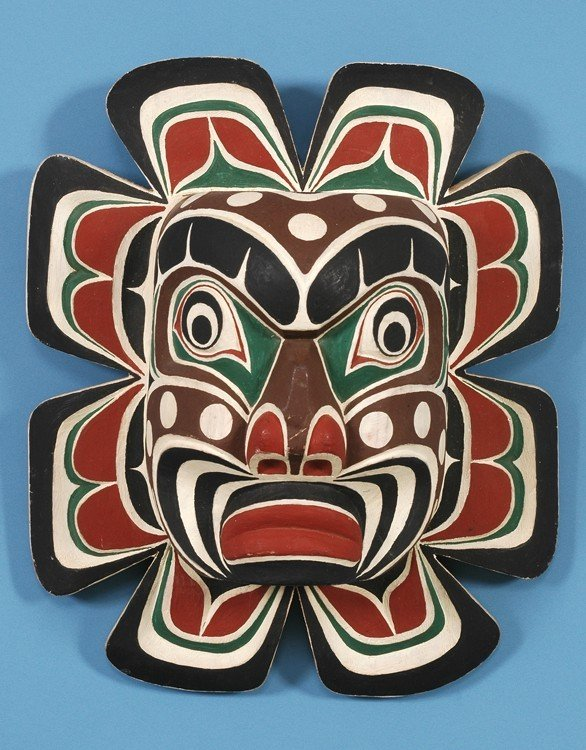 70: Sun Mask Carved by Ben Dick From Kingcome Inlet, B.