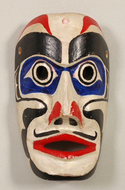"""1: Russell Smith Miniature Atlakim Mask 2 3/4"""" H. 1 5/8"""