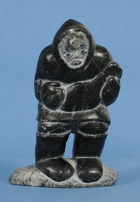 11: Inuit Sculpture of a Hunter with Seal by Jimmy Inar