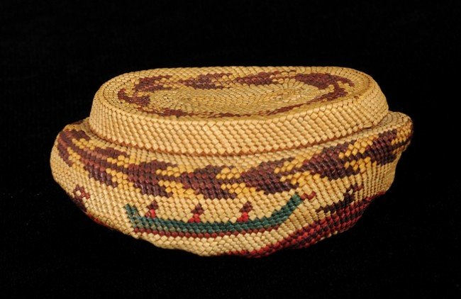 13: Nuu-chah-nulth Basketry Covered Abalone Shell with