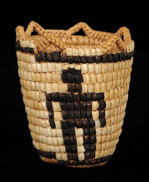 14: Klikitat Miniature Burden Basket with Three Human F