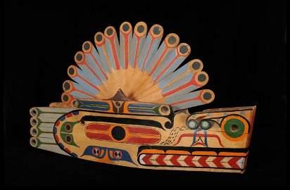 183: Nuu-chah-nulth Wolf Headdress ca. 1900 with Art