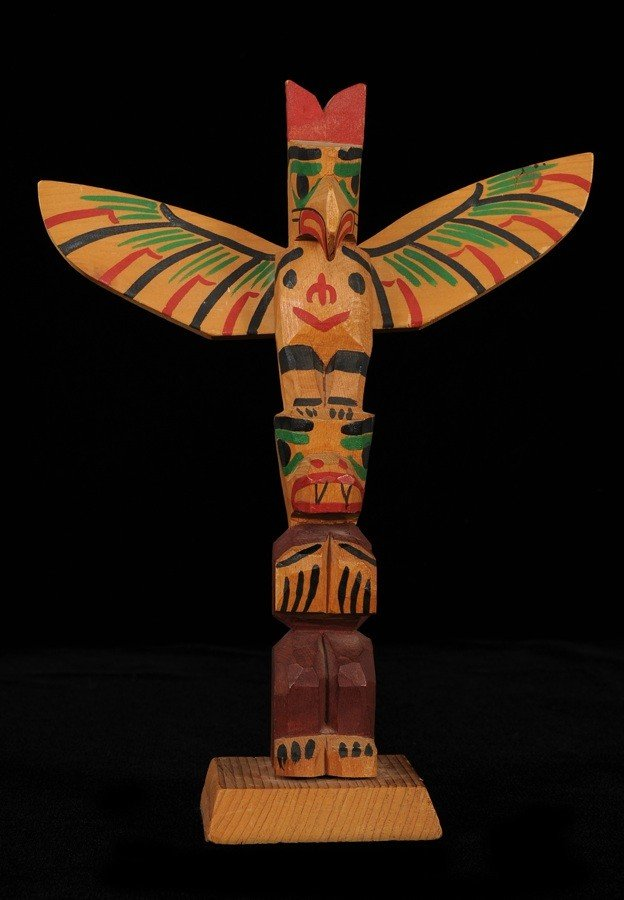 3: Ellen Neel Totem Carved with Thunderbird and Whale -