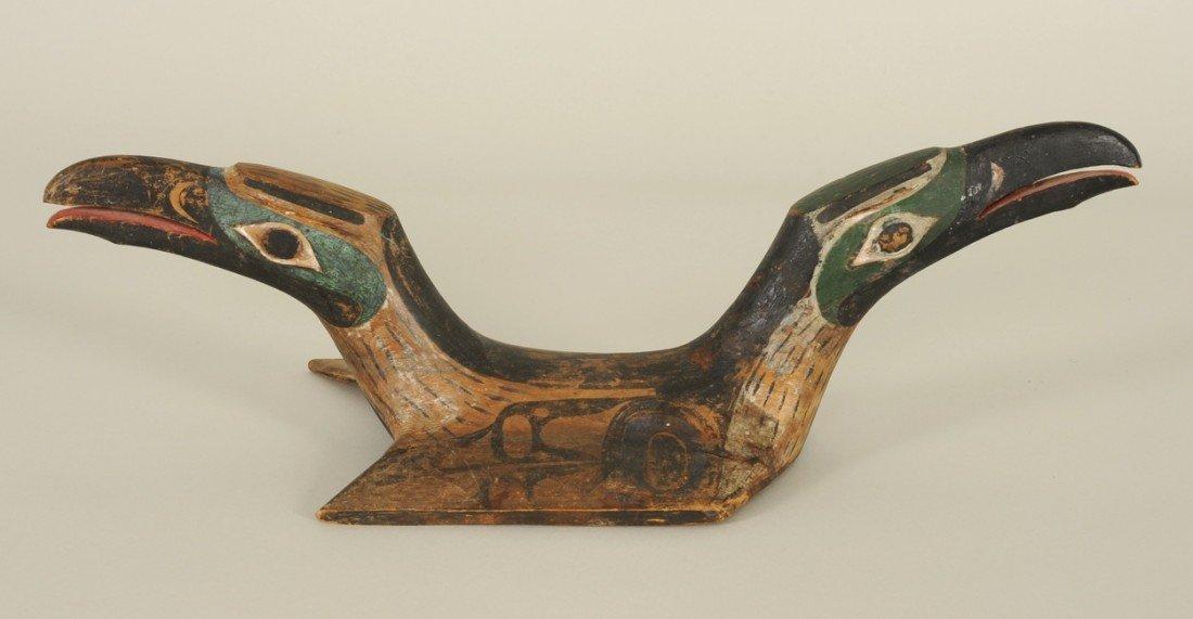 144: Early Northwest Coast Chief's Ceremonial Helmet