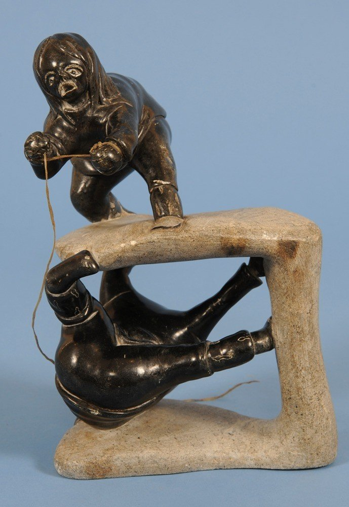 13: Very Finely Carved Inuit Sculpture of Two Ice Spiri