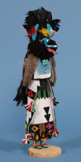 """Zuni Shalako Kachina Doll By Ben Saciwa 18"""" H.  Fin"""