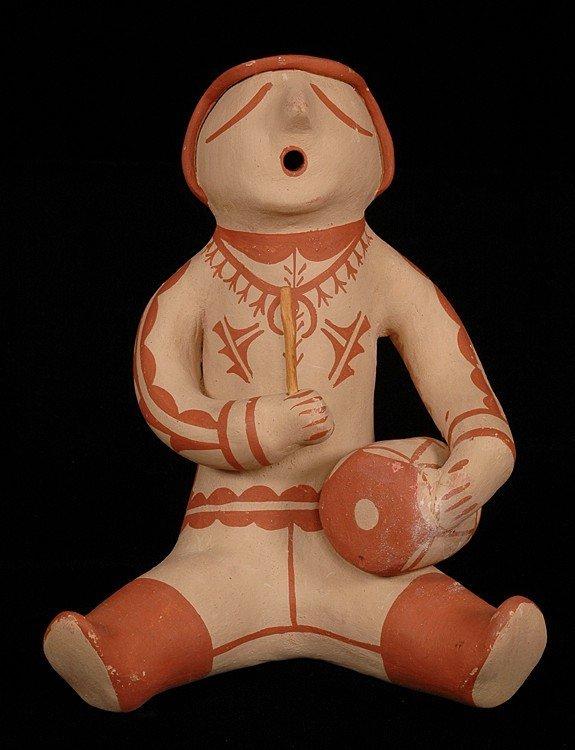 51: Santo Domingo Pottery Doll by Marie Coriz - Signed