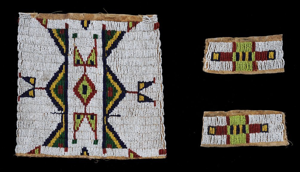 53: Sioux Beaded Pipe Bag Bottom and Sides ca. 1890, Ge