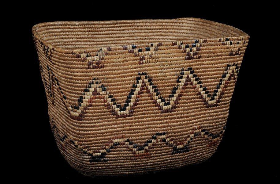 "56: Thompson River Burden Basket 16"" L. 10 1/2"" W. 10 1"