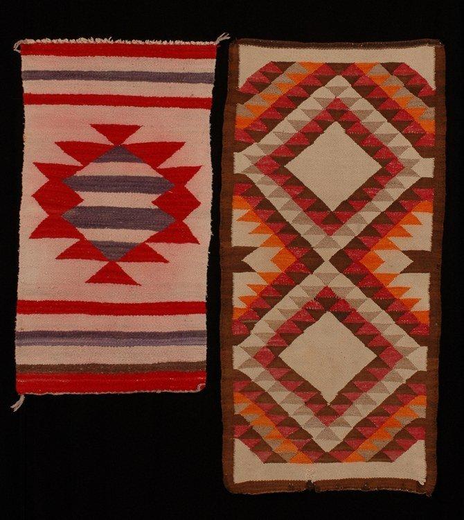"63: Navajo Rug ca. 1920's  21""x 42""   As Is,  Gallup Th"