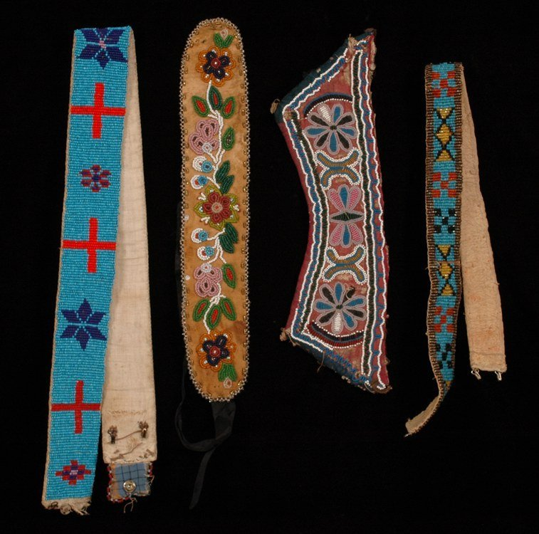 """124: Plains Beaded Belt with Star and Cross Design 31"""""""
