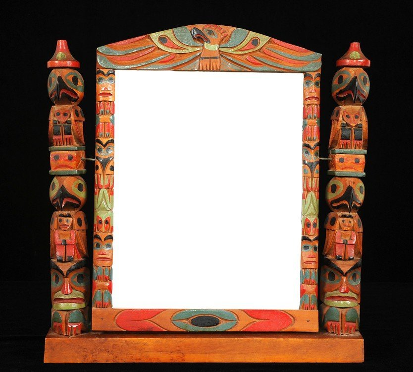 504: Nuu-chah-nulth Totemic Mirror/Picture Frame (Mirro