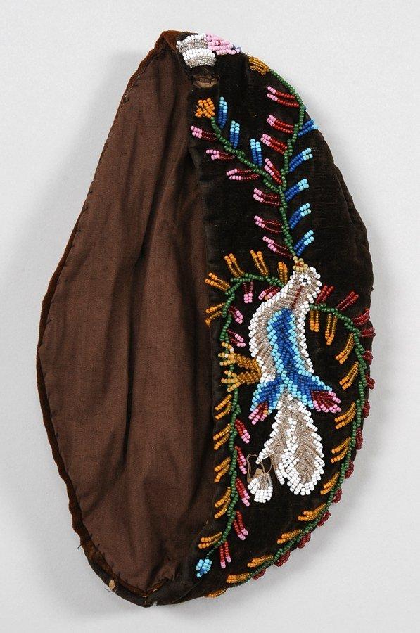 559: Iroquois Glengarry Hat Beaded with Bird Design on  - 2