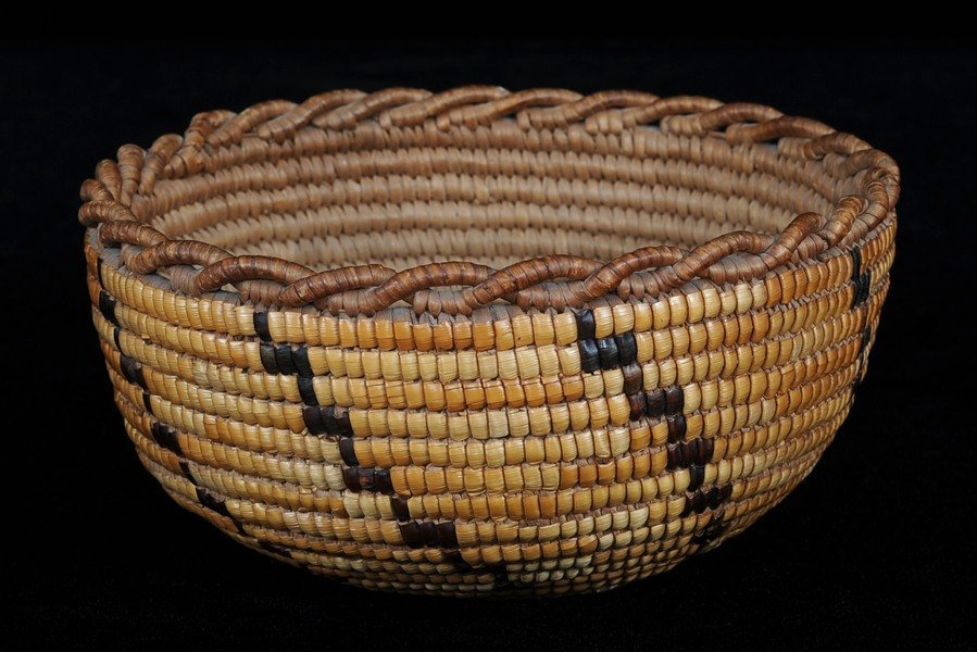 Fully Imbricated Lillooet Basket with Crenulated Rim 7