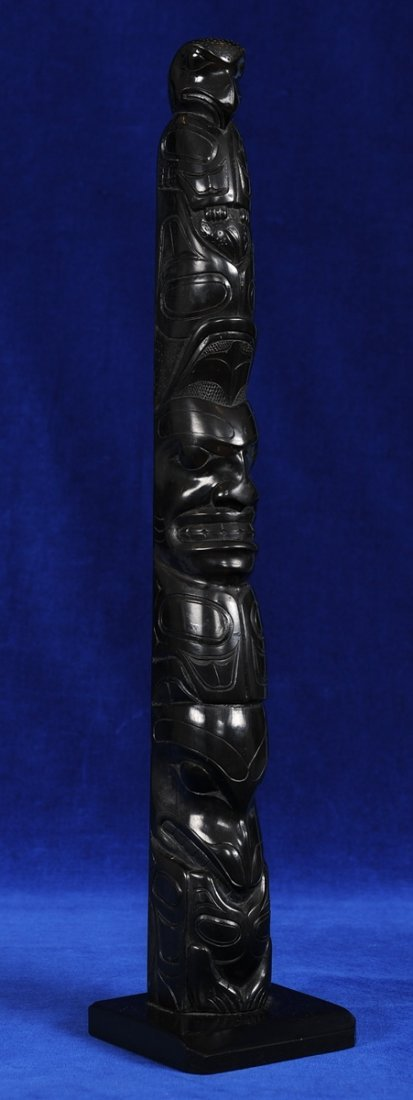 Haida Argillite Totem Attributed to Paul Jones ca. 1900