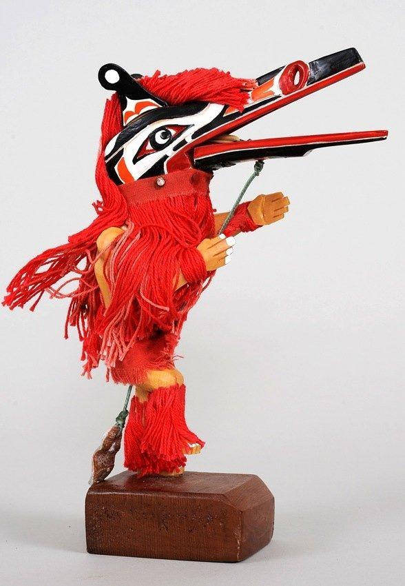 Articulated Kwakwaka'wakw Hamatsa Dancer Carved in Aler