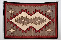 Navajo Rug with Geometric and Arrow Pattern ca. 1920  3