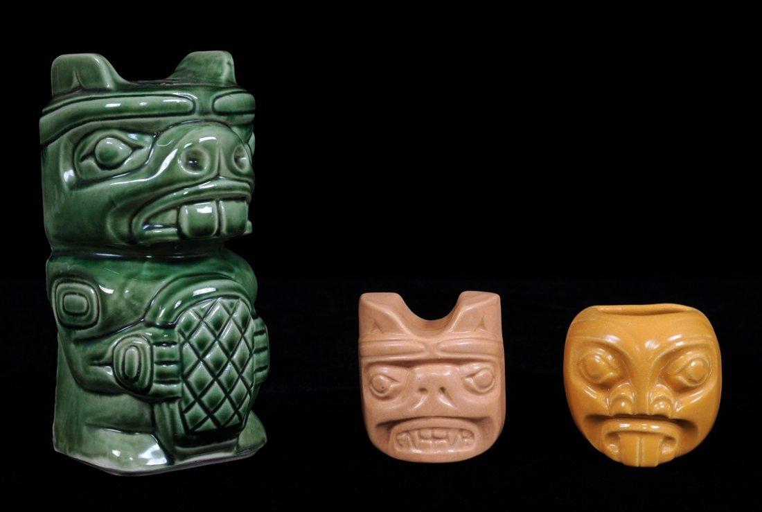 3 Henry Hunt Ceramic Items; a Beaver, a Pugwus and a