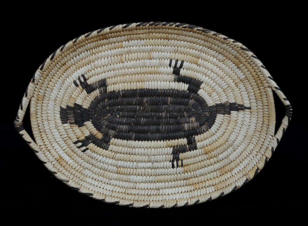 Papago Handled Tray with Lizard Design Collected at