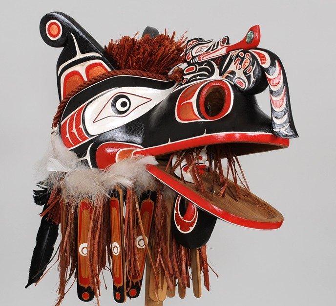 Kwakwaka'wakw Crooked Beak Mask Carved by Silas Coon