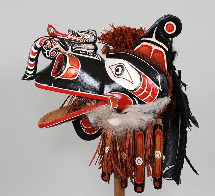 Kwakwaka'wakw Crooked Beak Mask Carved by Silas Coon - 2