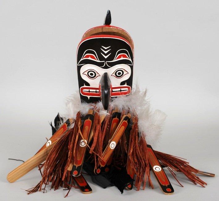 Kwakwaka'wakw Crooked Beak Mask Carved by Silas Coon - 3