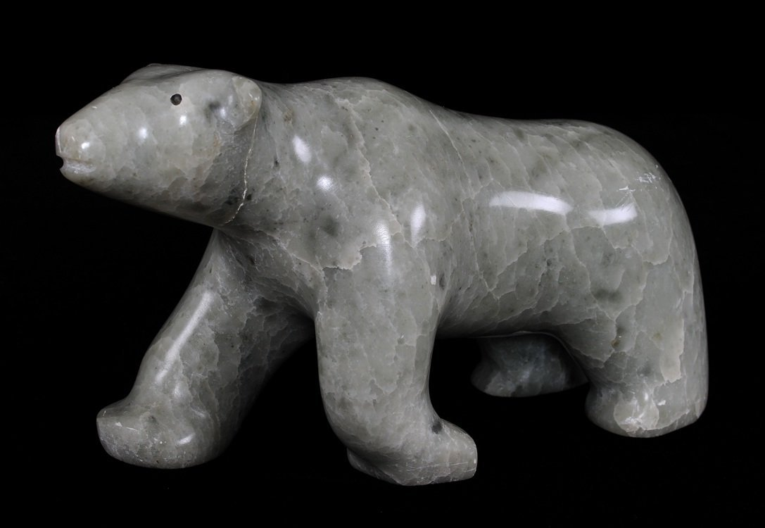 Inuit Polar Bear Carving - Signed Illegibly, #9321-145