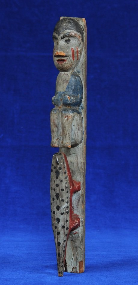 "Tlingit Two Figure Totem ca. 1910  10"" H.  Fair"