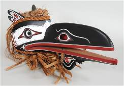 Northwest Coast Articulated Raven Mask Carved by Don