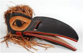 Northwest Coast Hamatsa Raven Mask Carved by Derek