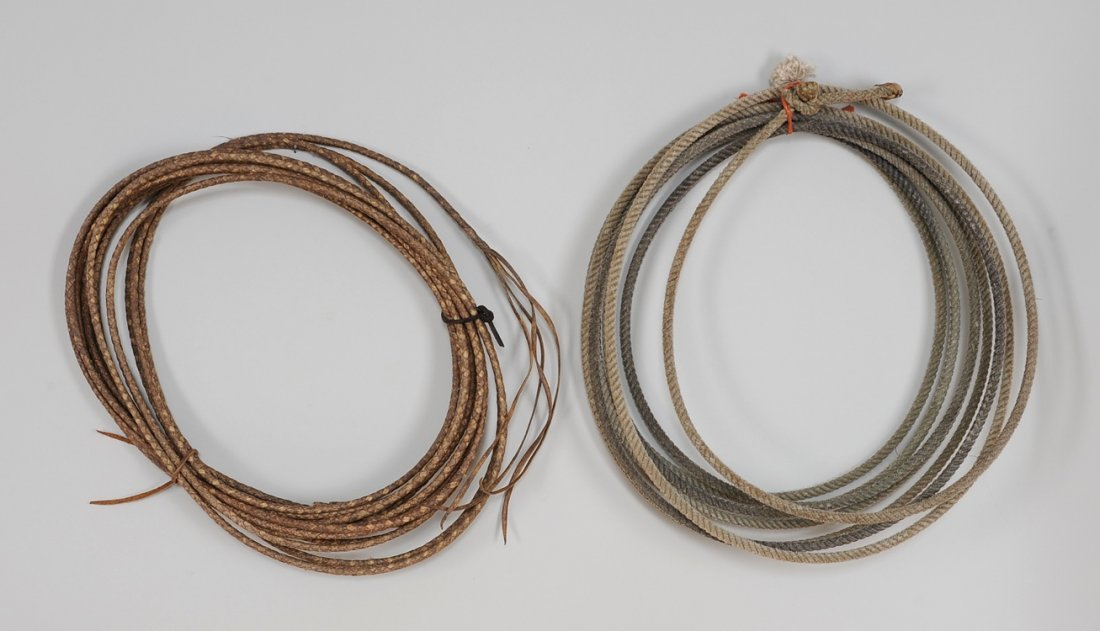 Braided Rawhide Reatta 55 Ft long and a Rope Lasso