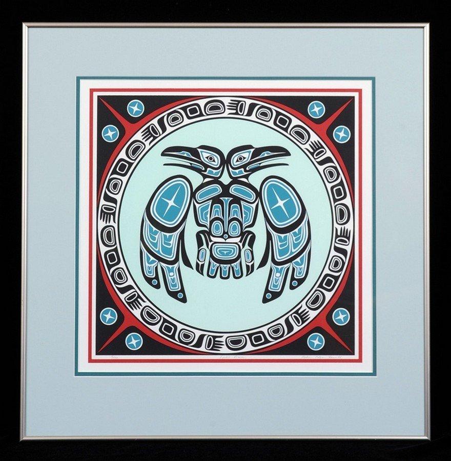"Robin Edgar Haworth Serigraph ""Split Raven"" '116/140"