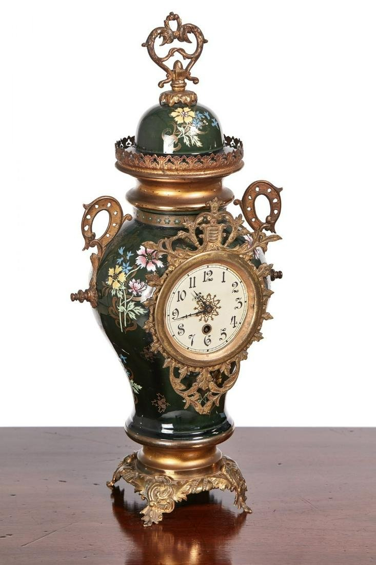 Large French Victorian Mantel Clock
