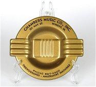 Chambers Music Company NOS Advertising Ashtray