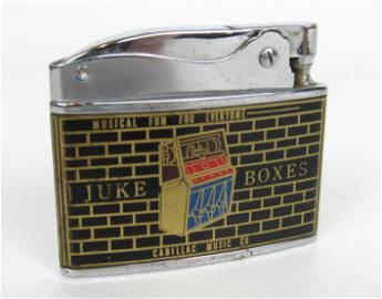 Cadillac Music Co. Lighter, 1957 Seeburg KD 200 Jukebox
