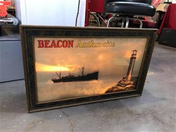 1930s Beacon Anthracite Coal Light Up Motion Display