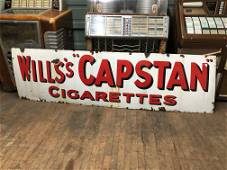 """Wills's """"Capstan"""" Cigarettes Porcelain Advertising Sign"""