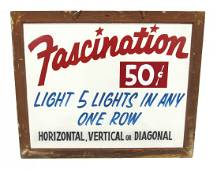 """Indiana Beach """"Fascination"""" Wood Framed Sign"""