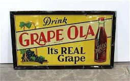 Original Grape Ola Metal Advertising Sign
