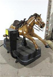 Leather Saddled Horse Kiddie Ride