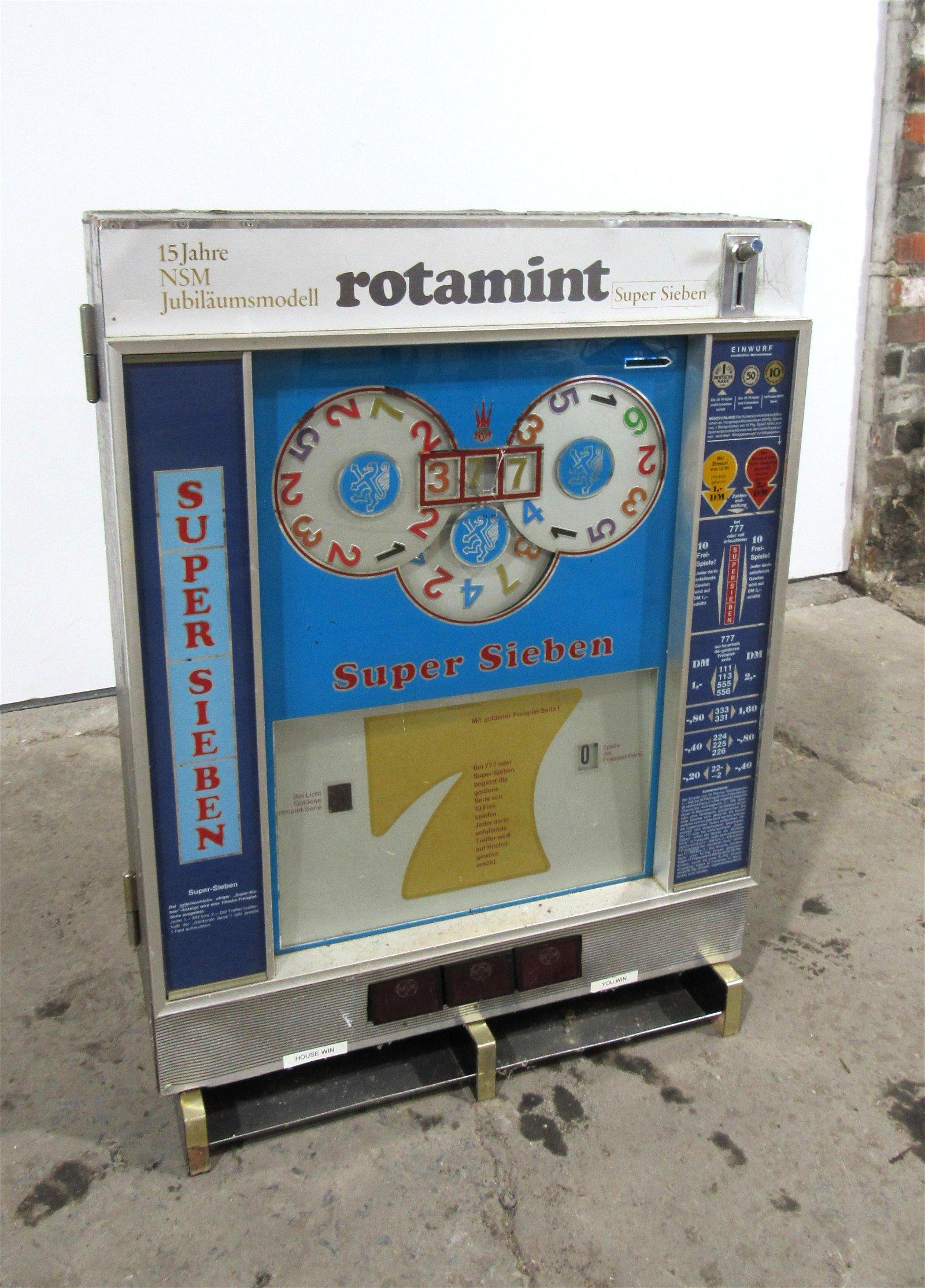 NSM Rotamint Super Sieben Coin Operated Gambling Arcade