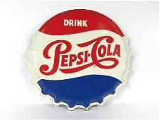 Original Pepsi Bottle Cap Advertising Sign