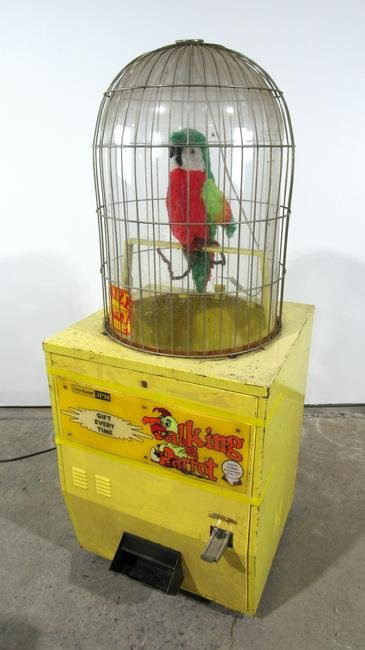 Talking Parrot Coin Operated Prize Arcade Game