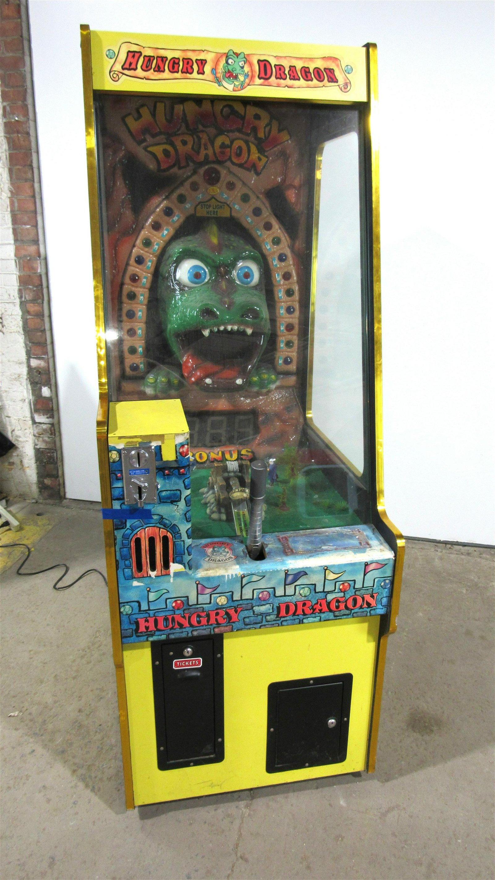 Hungry Dragon Coin Operated Ticket Arcade Game