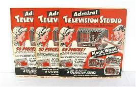 3 Admiral Television NOS Walt Disney Peter Pan Diorama