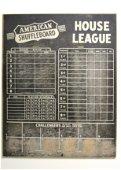 Early American Shuffleboard Masonite Scoreboard Sign
