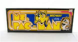 Bally Ms. Pac-Man Arcade Game Header