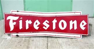 LARGE 9 FT Firestone Porcelain Advertising Sign