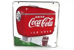 Porcelain Drink Coca Cola Soda Fountain Sign